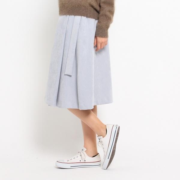 【洗える】【ウエスト後ろゴム】ソフトコーデュロイスカート