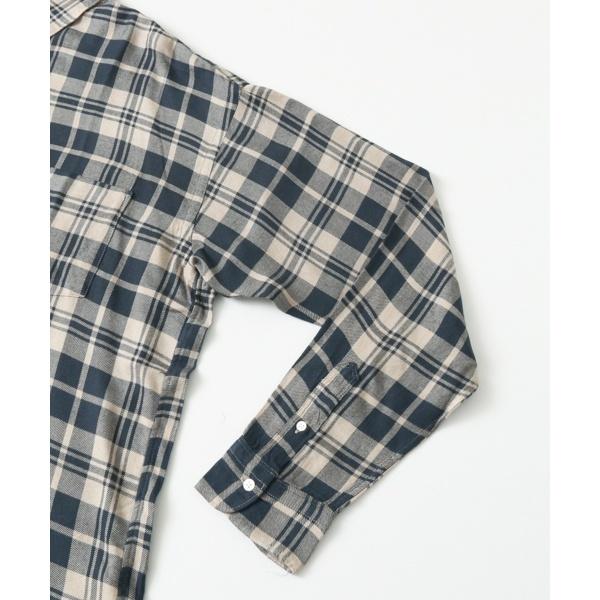 メンズシャツ(レーヨンチェックレギュラーシャツ)