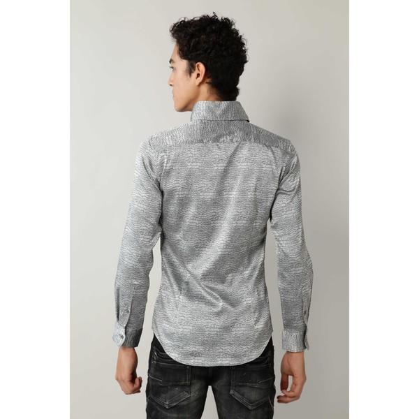 TORNADO MART: クロコダイルジャカード クリスタルBDシャツ