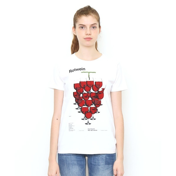 【ユニセックス】ベーシックTシャツ/レッドワイン