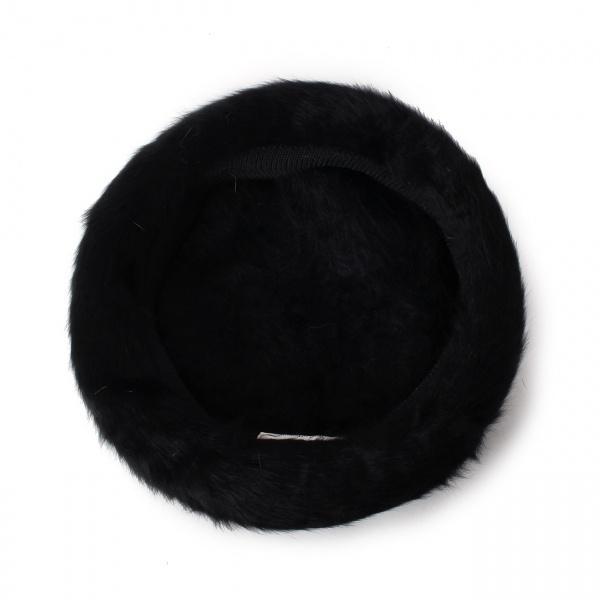 ふわふわフェイクファーベレー帽