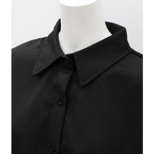 ウエストマークベルト付きシャツ