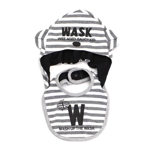 マルイウェブチャネル[マルイ]【セール】BABYボーダーシリーズ 帽子付スタイ/ワスク(WASK)