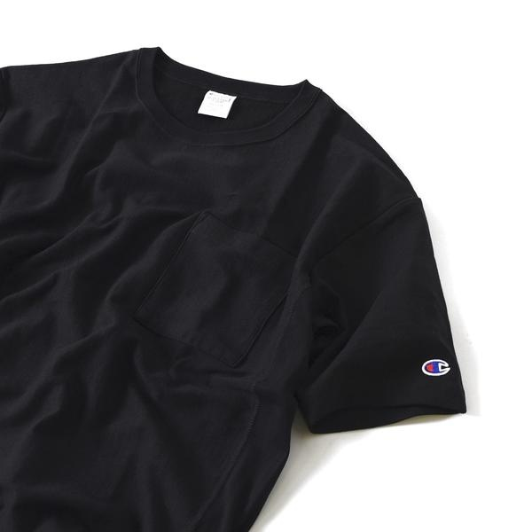 Champion×SHIPS JET BLUE: 別注 リバースウィーブ リラックスポケットTシャツ