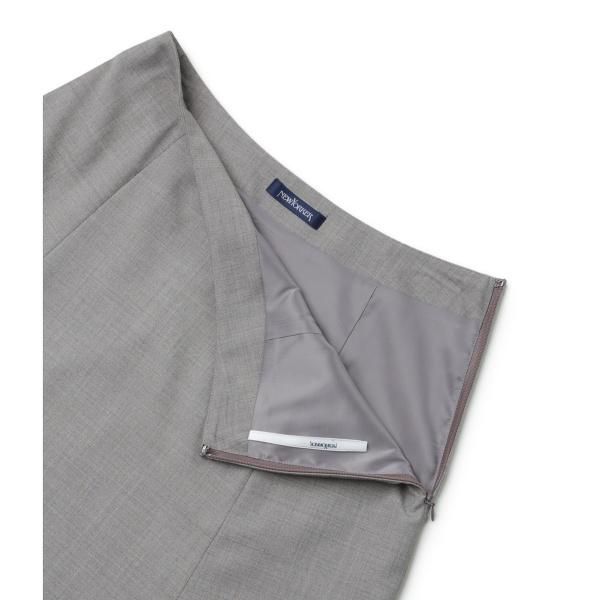ウールストレッチツイル フレアスカート