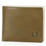 【18SS】LAUREL LEAF DYED LEATHER BILLFOLD/フレッドペリー(雑貨)(FRED PERRY)