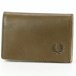 【18SS】LAUREL LEAF DYED LEATHER CARD CASE/フレッドペリー(雑貨)(FRED PERRY)