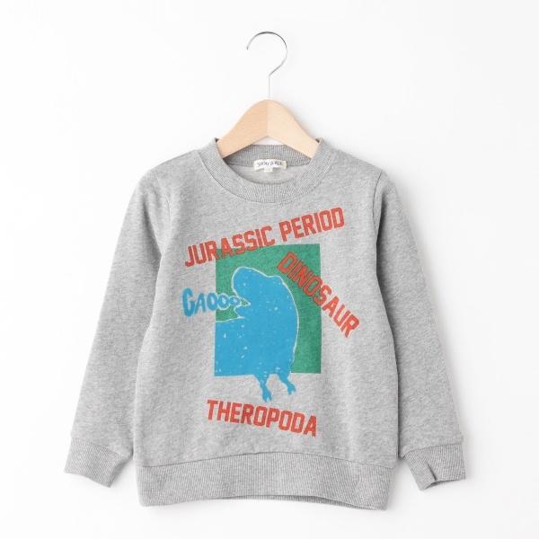 [マルイ]【セール】恐竜ロゴミニ裏毛トレーナー/シューラルー(キッズ)(SHOOLARUE Kids)