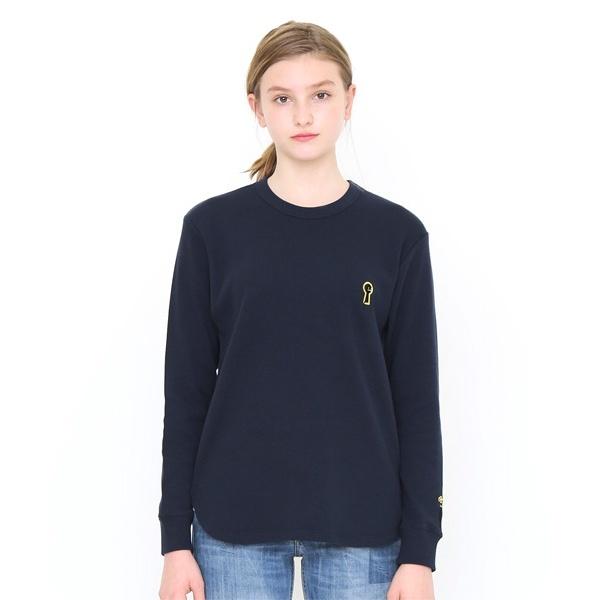 【ユニセックス】ワッフルロングスリーブTシャツシャツB(キーホールビューティフルシャドー)