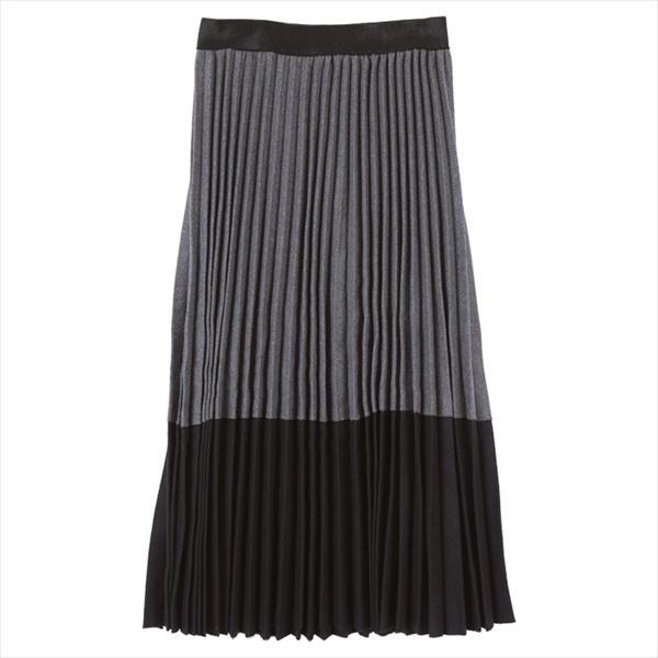 2トーンカラープリーツスカート