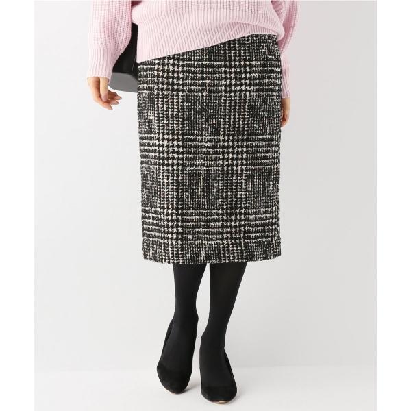 レディススカート(《WEB限定》ノットツイードタイトスカート)