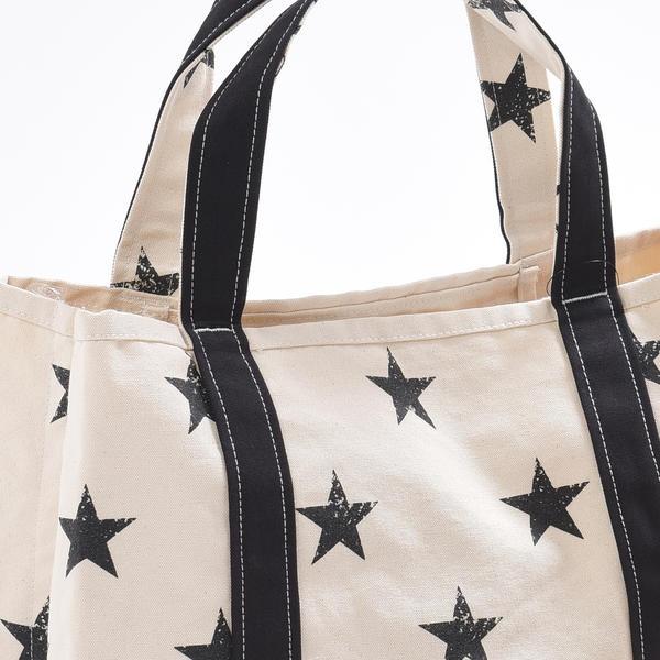 【LIPSTAR】星柄ビッグキャンパストートバッグ