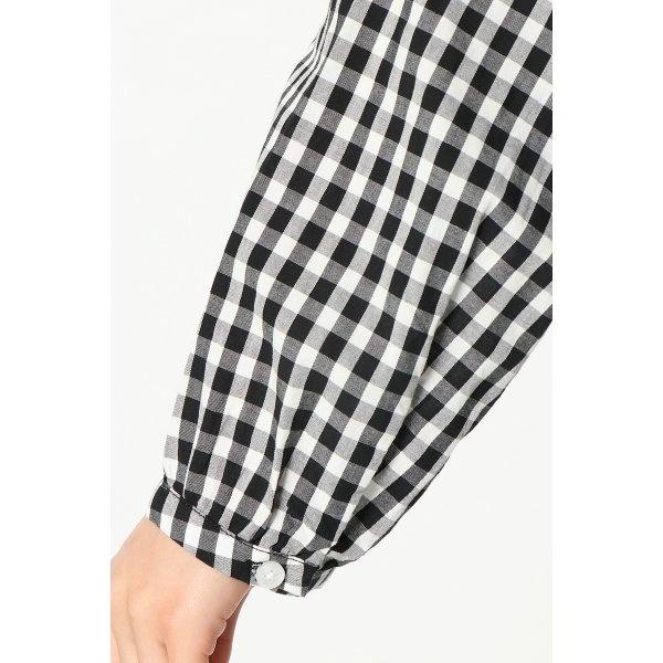 コットン丸襟シャツ
