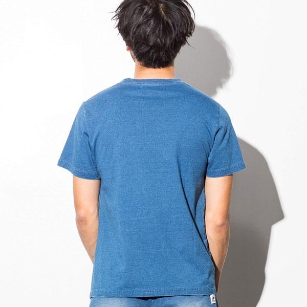 AZ by junhashimoto 刺繍デザインインディゴ染めTシャツ