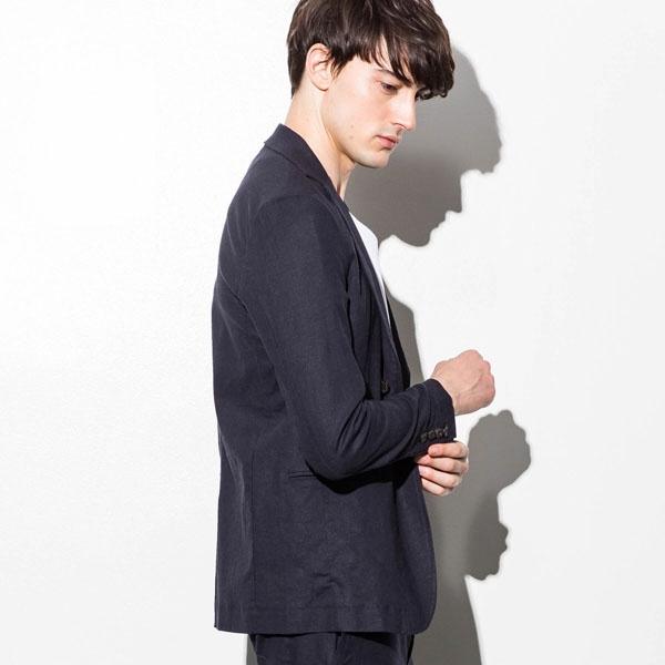 JH junhashimoto(ジェイエイチ ジュンハシモト) ストレッチリネンノッチドジャケット