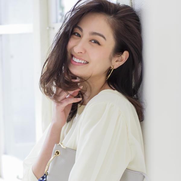 『美人百花4月号掲載』シフォン付きニット