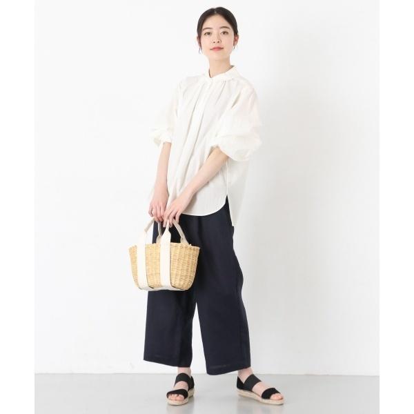 レディスシャツ(コットンタイプライター丸衿シャツ)