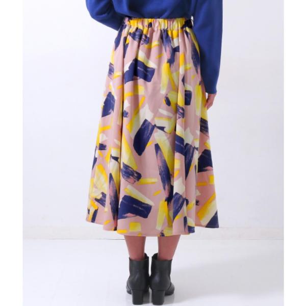 プリントフレアースカート