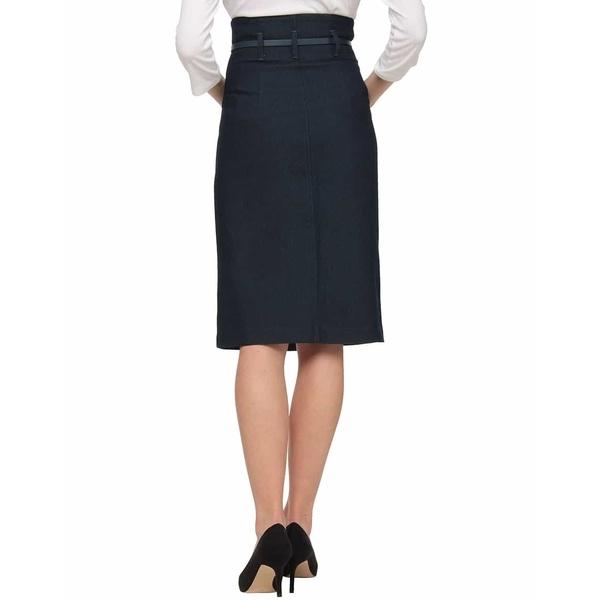 ベルト付きコットンジャガードラップスカート