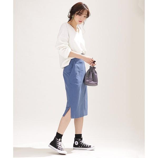 【steady. 3月号掲載】 サイドスリットタイトスカート