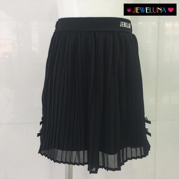 【JEWELUNA(ジュエルナ)】シフォンプリーツスカート