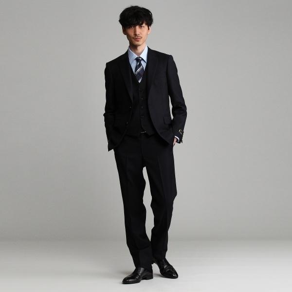 【J∞QUALITY】シャドーストライプシングルベスト[メンズ ベスト 通年 撥水 防汚]