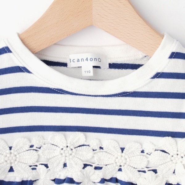 花レース ロングTシャツ