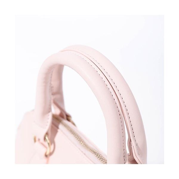 リボン編み上げハンドバッグ