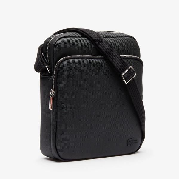ラコステ メンズCLASSICプチピケダブルジッパー式バッグ