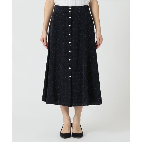 レディススカート(ドット前ボタンスカート◆)