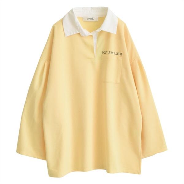 【ゆったり】zootie(ズーティー):ミニロゴ BIGポロシャツ