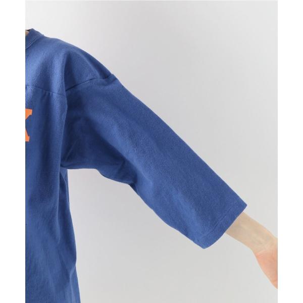 レディスカットソー(CHAMPION 3/4 SLEEVE FOOTBALL Tシャツ◆)