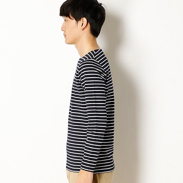 ラコステ コットン ピケボーダーTシャツ (長袖)