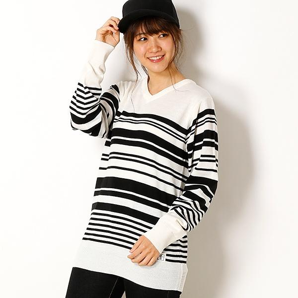 [マルイ]【セール】【AZ by junhashimoto】Random border knit/アドポーション(ADOPOSION)