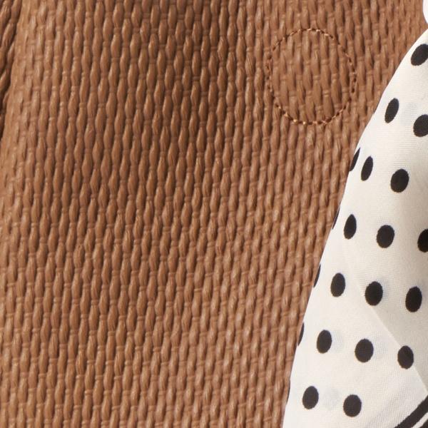 スカーフ付きバンブーハンドル3つ口バッグ