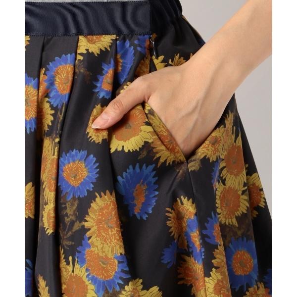 【洗える】マルグリットフルールプリント スカート
