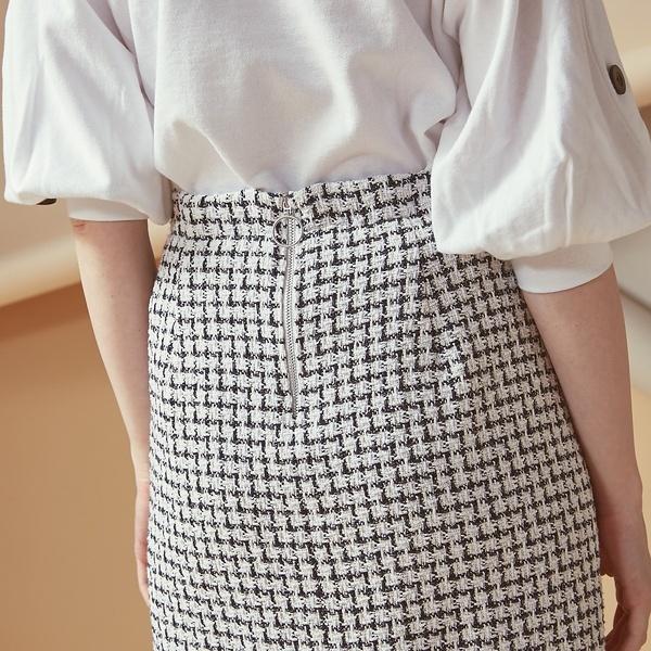 【インスタグラマー着用】ツィードタイトスカート