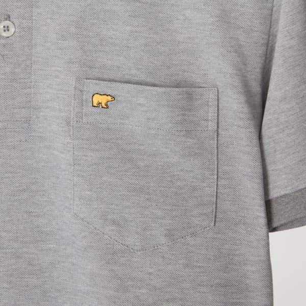 鹿の子ポロシャツ