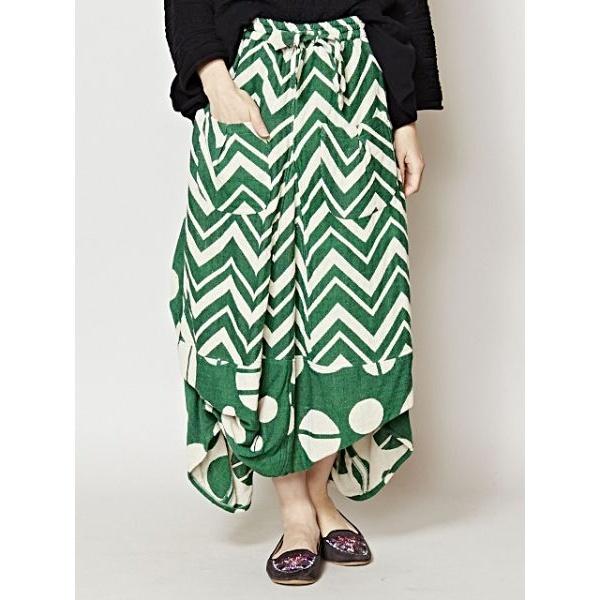 【チャイハネ】yul ジグザク×ドット変形スカート