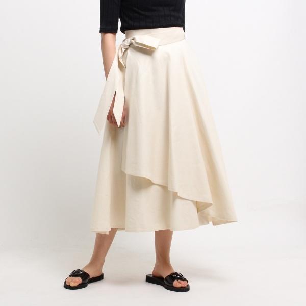 [マルイ]【セール】【洗える】フレンリネンシャンブレースカート/ドレステリア(レディス)(DRESSTERIOR Ladies)