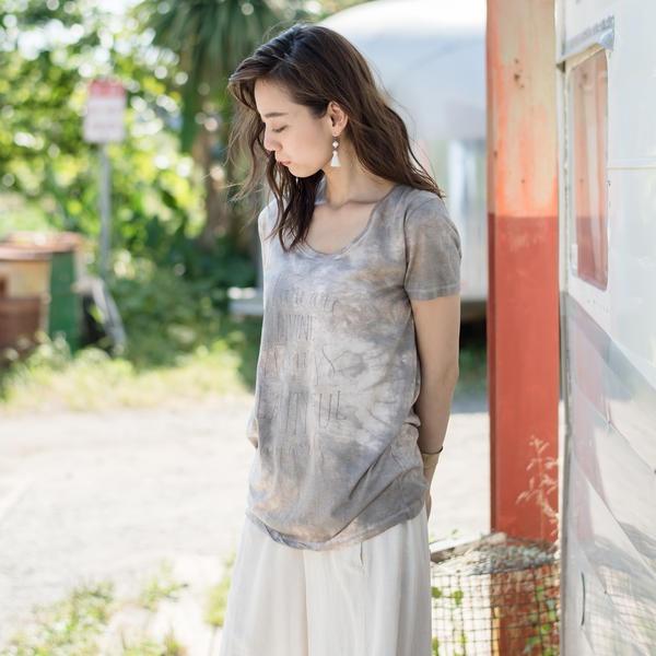 綿モダール2色ムラDIVINE Beautiful Tシャツ