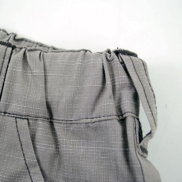 【カタログ掲載】シャンブレーUV加工テープ付7分丈パンツ