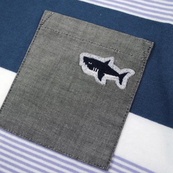 【カタログ掲載】天竺太ボーダーワッペンTシャツ
