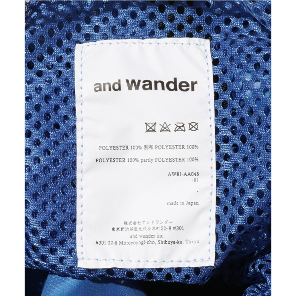 メンズバッグ(and wander / アンドワンダー: mesh napsack)