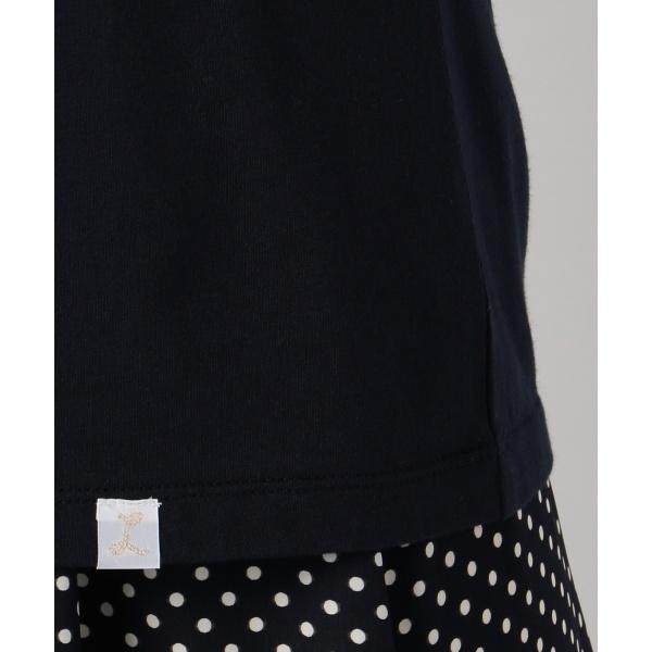 【WEB限定色あり】L'aube コットンモダールジャージーロゴ Tシャツ
