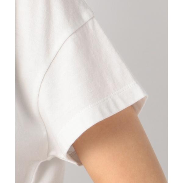 L'aube コットンモダールジャージーバンダナプリント Tシャツ