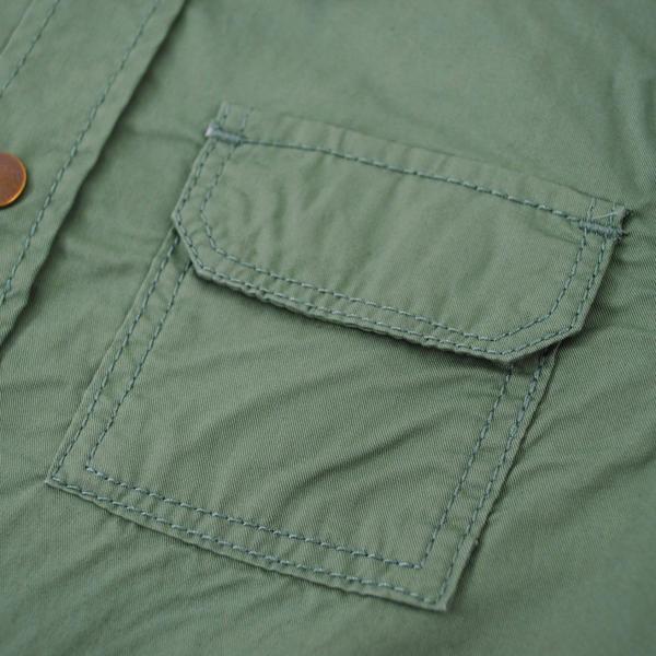 ツイル/ストライプシャツジャケット