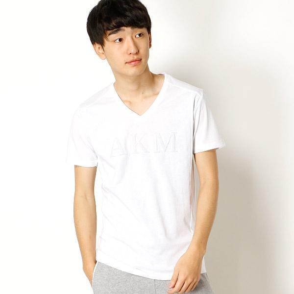 [マルイ]【セール】【AKM Contemporary】AKM Logo emboss print t-shirts/アドポーション(ADOPOSION)