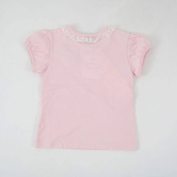 チュールレースフリルリボン付Tシャツ
