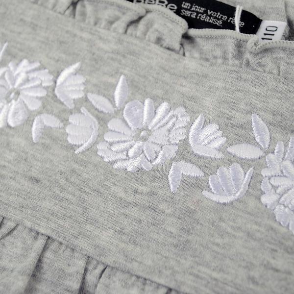 刺繍入りAラインTシャツ